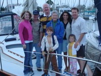 Highlight for Album: Friday Sail on Galveston Bay - Dave & Family